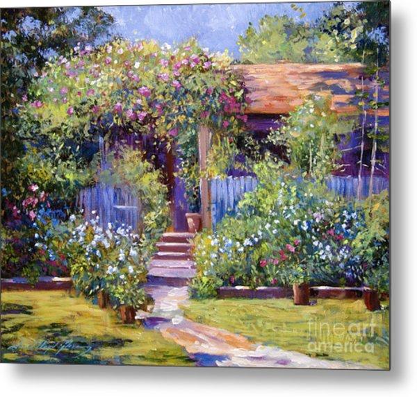 Garden Summer Cottage Metal Print