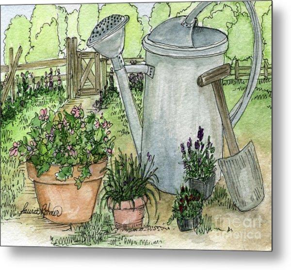 Garden Tools Metal Print
