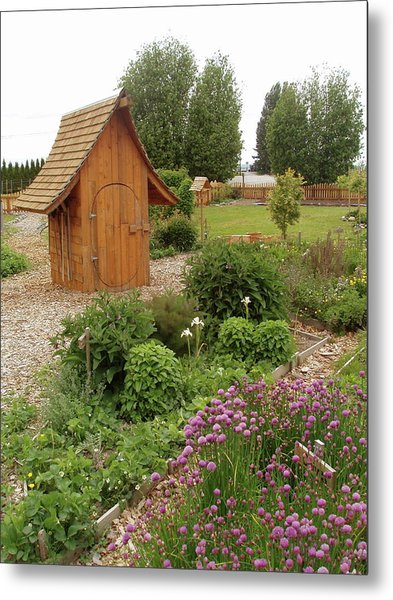 Garden Toolshed, 2005 Metal Print by Leizel Grant