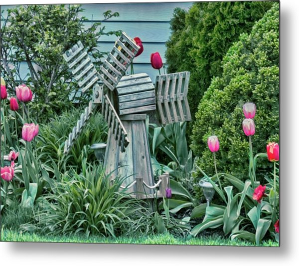 Garden Windmill Metal Print