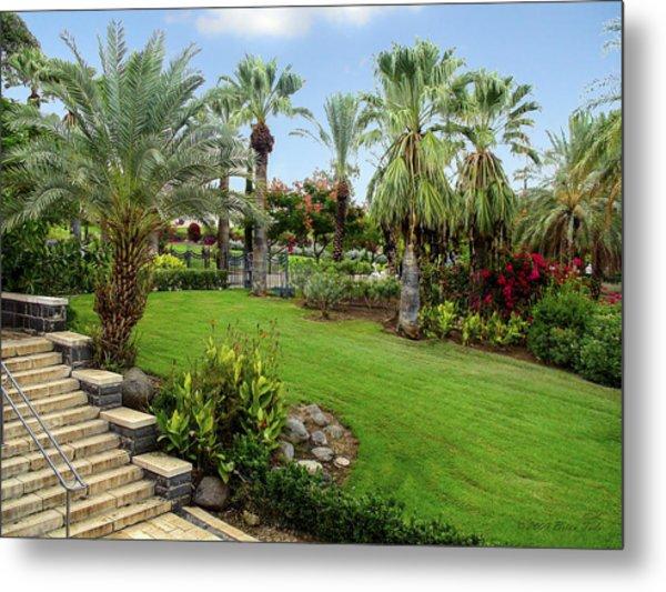 Gardens At Mount Of Beatitudes Israel Metal Print
