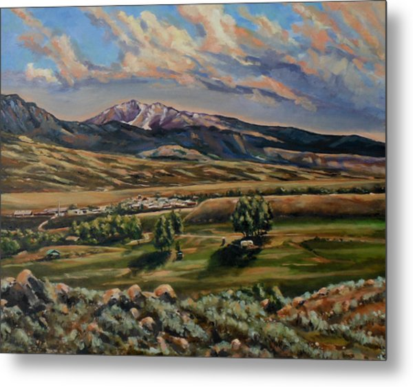 Gardiner And Electric Peak From Scotty's Place Metal Print