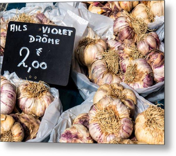 Garlic Two Euros Metal Print