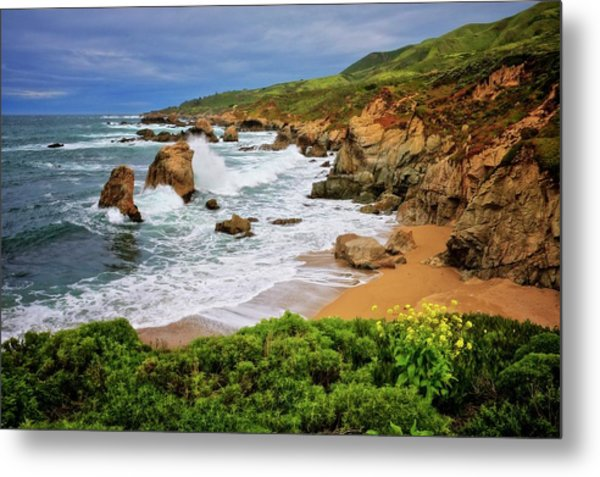 Garrapata Beach, Carmel, California Metal Print
