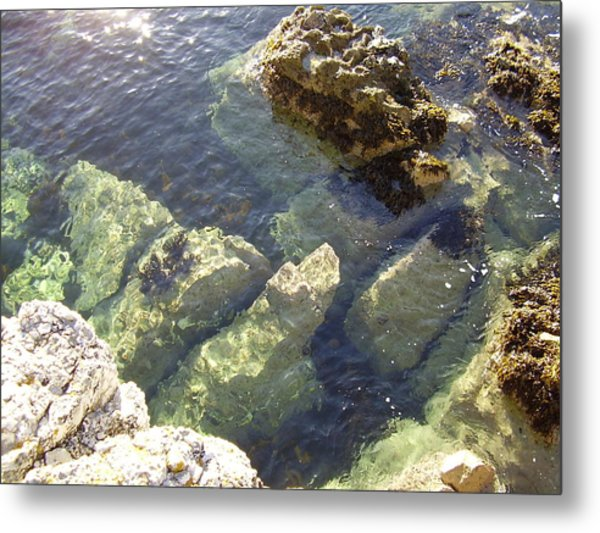 Garron Point Rock Pool Metal Print