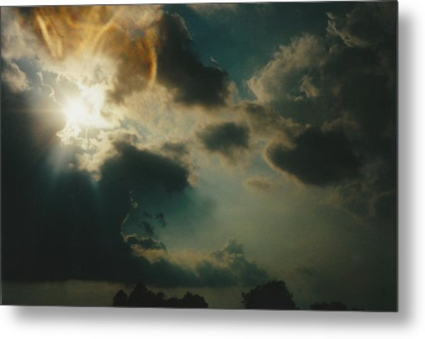 Gary Indiana Storm On The Rise Metal Print by Gene Linder
