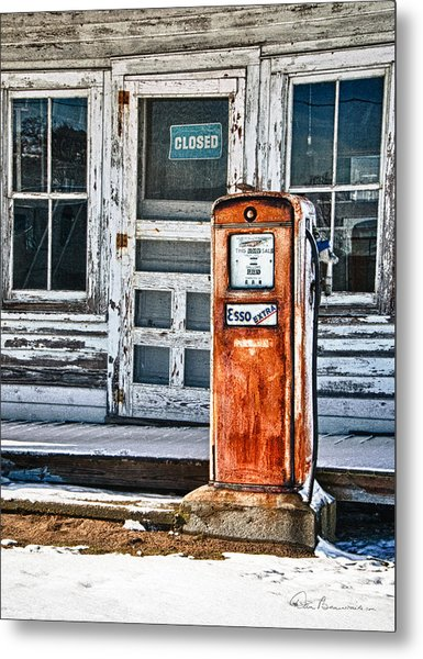 Gas Pump 7153 Metal Print