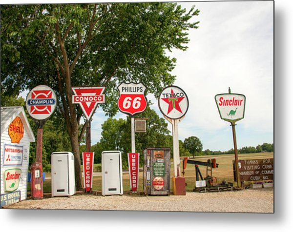 Gas Signage Metal Print