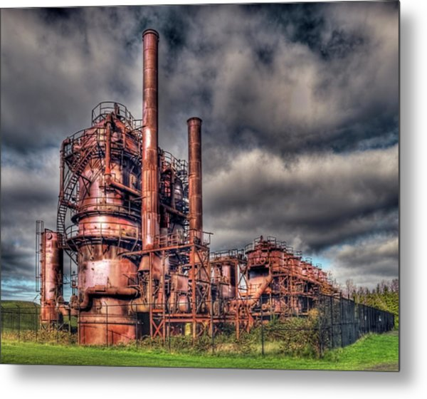 Gas Works Park - Seattle Metal Print