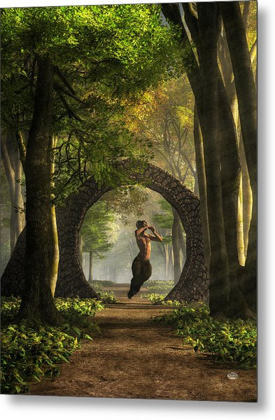Gate To Pan's Garden Metal Print