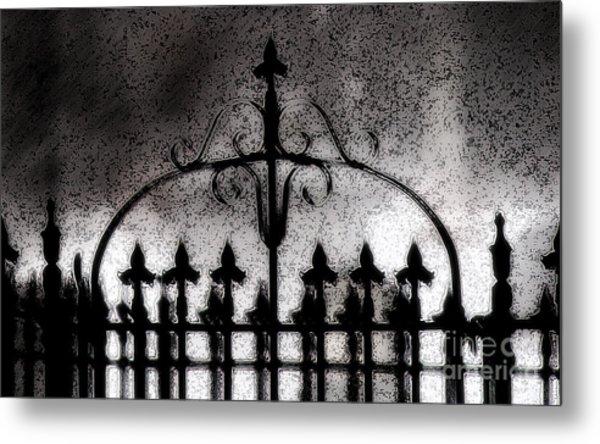 Gated Metal Print