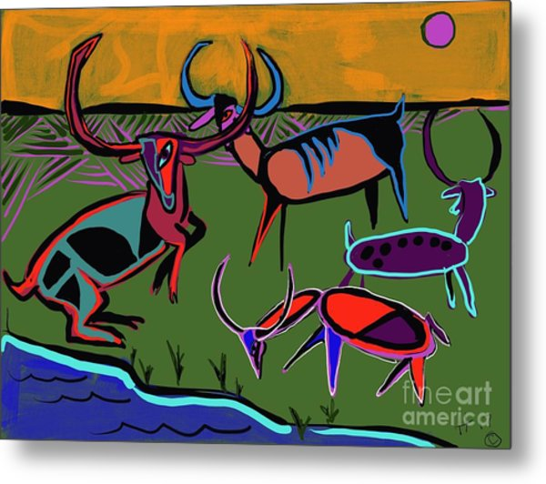 Gathering Herd Metal Print