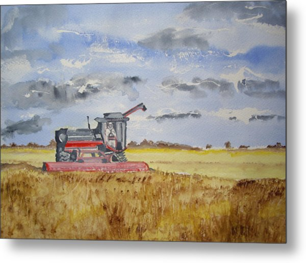 Gathering The Harvest Metal Print