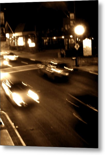 Gatlinburg At Night Metal Print