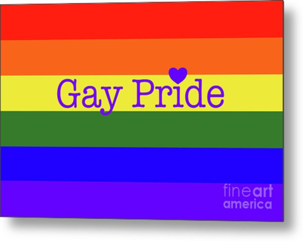 Gay Pride Love Metal Print