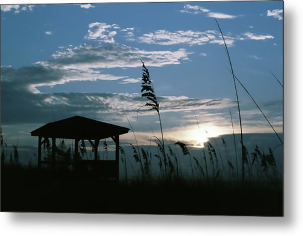 Gazebo In The Dunes Metal Print