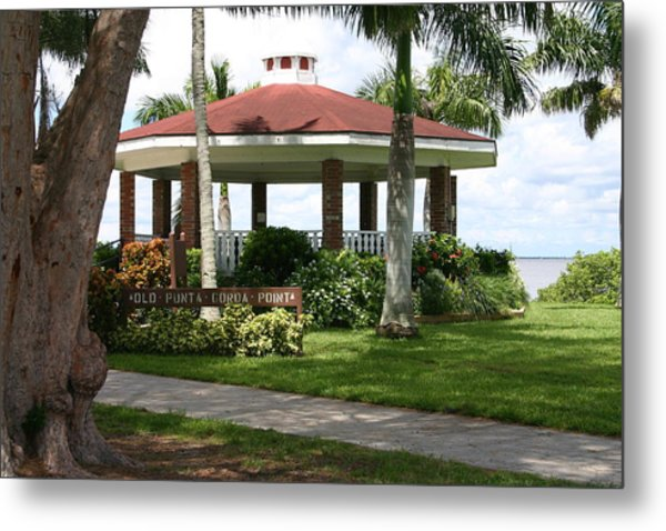 Gazebo Punta Gorda Fl Metal Print by Francesco Roncone
