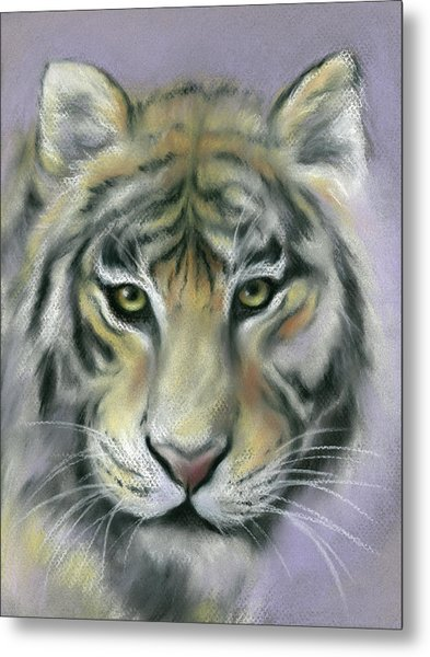 Gazing Tiger Metal Print
