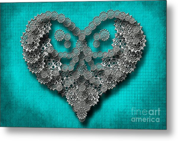 Gear Heart Metal Print