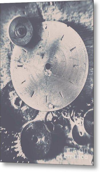 Gears Of Old Industry Metal Print