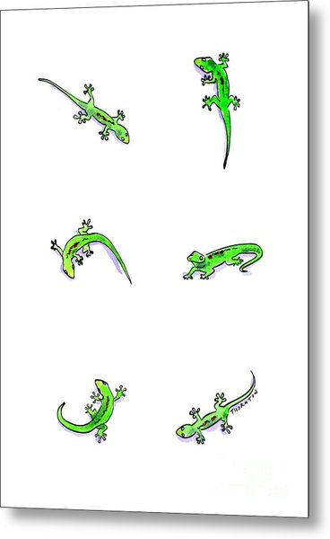 Gecko Play Metal Print
