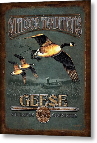 Geese Traditions Metal Print