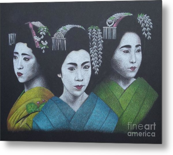 Geisha Girls Metal Print