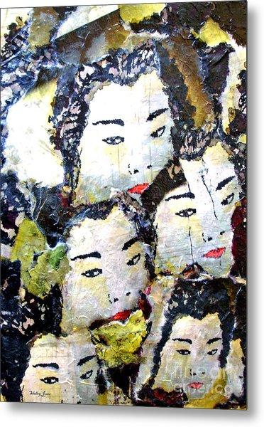 Geisha Girls Metal Print