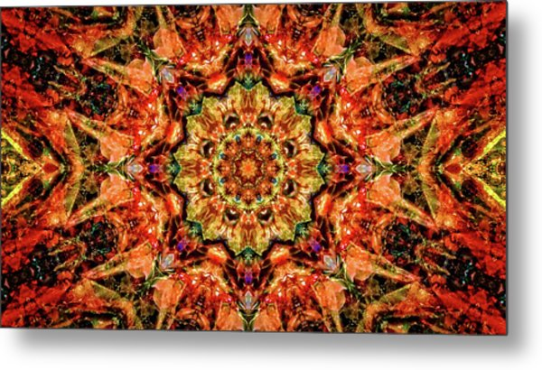 Gem Pattern Metal Print