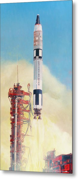 Gemini-titan Launch Metal Print