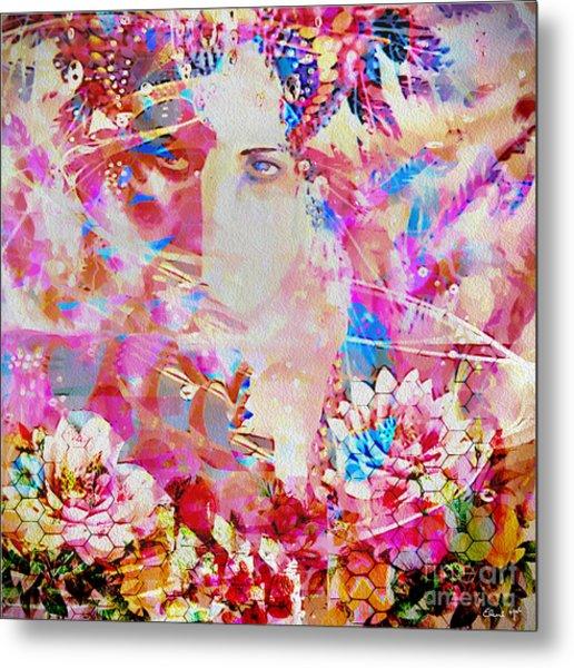 Metal Print featuring the photograph Gemini Woman by Eleni Mac Synodinos