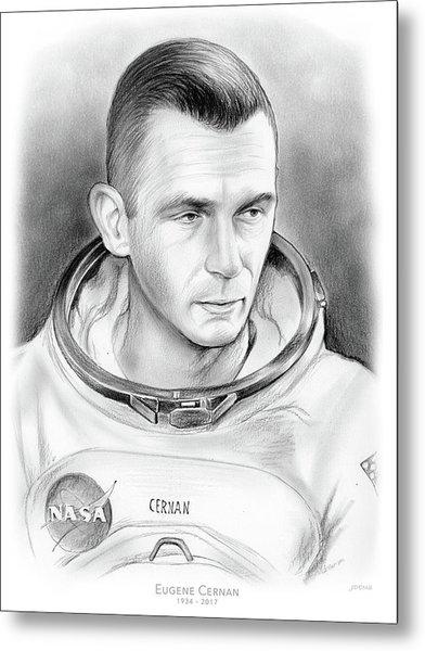 Astronaut Gene Cernan Metal Print