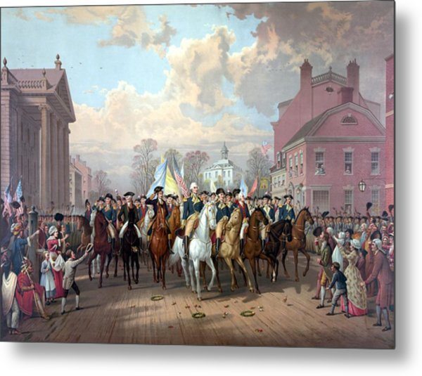 General Washington Enters New York Metal Print
