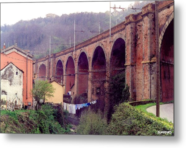 Genoa Railroad Bridge Metal Print by Al Blackford
