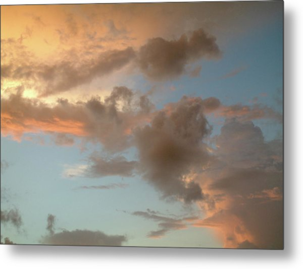 Gentle Clouds Gentle Light Metal Print
