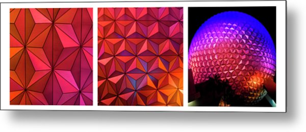 Metal Print featuring the photograph Geodesic Glow 2 by Christi Kraft