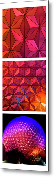 Metal Print featuring the photograph Geodesic Glow by Christi Kraft