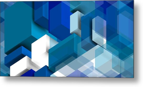 Metal Print featuring the digital art Abstract Composition  by Alberto RuiZ