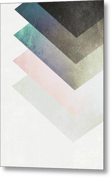 Geometric Layers Metal Print