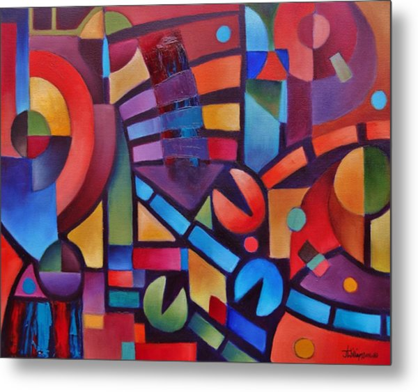 Geometric Music Metal Print