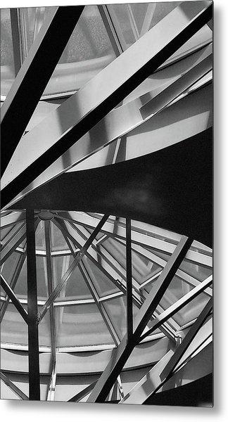Geometry In Black And White Metal Print by Winnie Chrzanowski