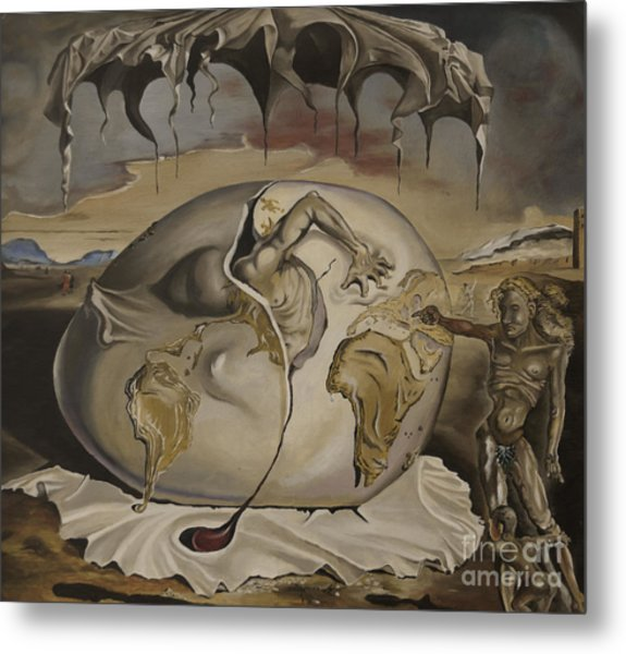 Dali's Geopolitical Child Metal Print