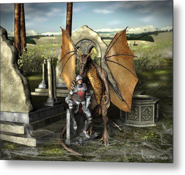 George And The Dragon Metal Print
