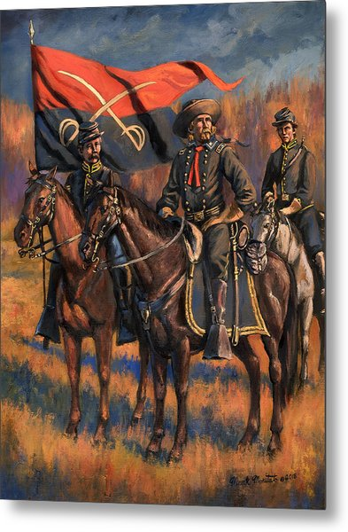 George Armstrong Custer Metal Print by Mark Maritato