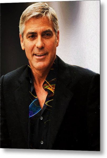 George Clooney Painting Metal Print