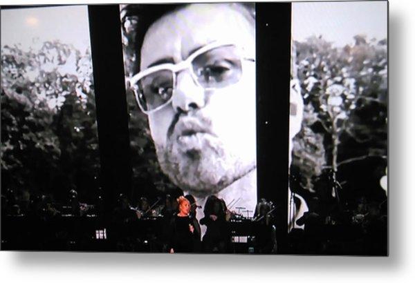 George Michael Sends A Kiss Metal Print
