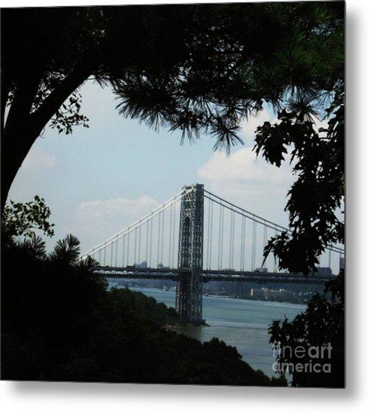 George Washington Bridge Metal Print by Maria Scarfone