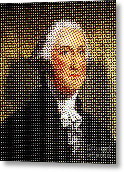 George Washington In Dots  Metal Print