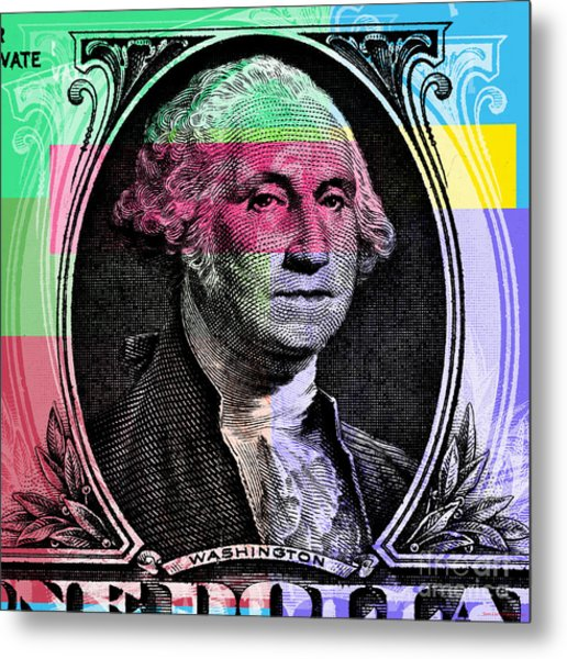 George Washington Pop Art Metal Print