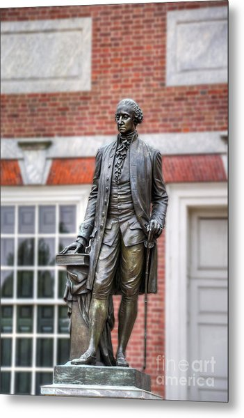 George Washington Statue Metal Print